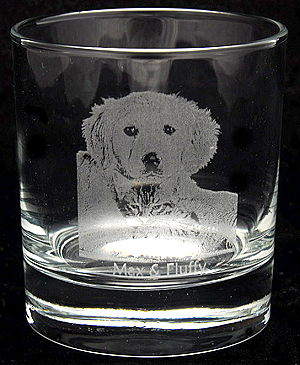 whisky glass engraved with your photo